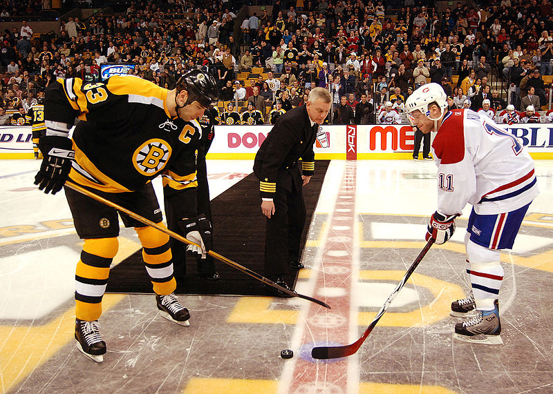Boston Bruins Puck Drop
