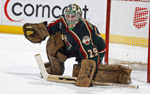 Josh Harding of the Minnesota Wild