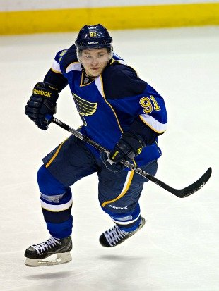Rookie forward sensation Vladimir Tarasenko of the St Louis Blues.
