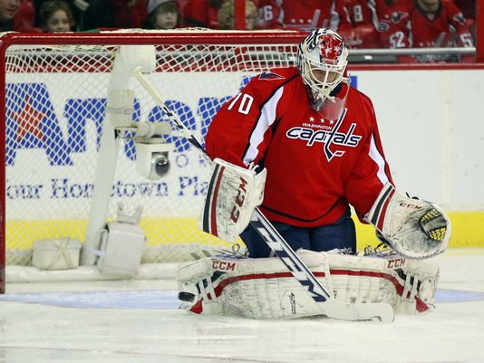 Braden Holtby has taken charge of the Capitals' crease.  Image courtesy of usatoday.com.