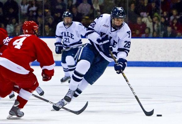 Antoine Laganiere of Yale. Image courtesy of Hockey's Future.