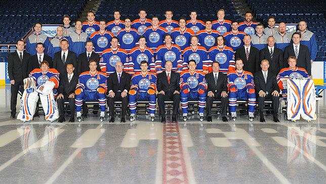 Edmonton Oilers 2013 Roster.  Image courtesy edmontonoilers.com.