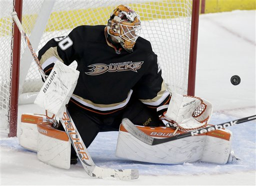 Viktor Fasth makes a save.  Image courtesy of bigstory.ap.org.