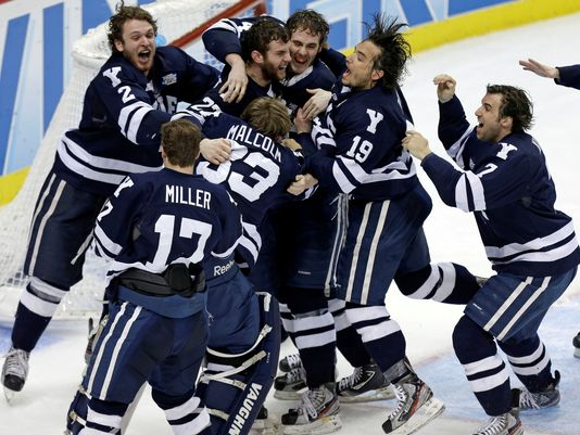Yale wins the Frozen Four Championship.  Image courtesy of USA Today.