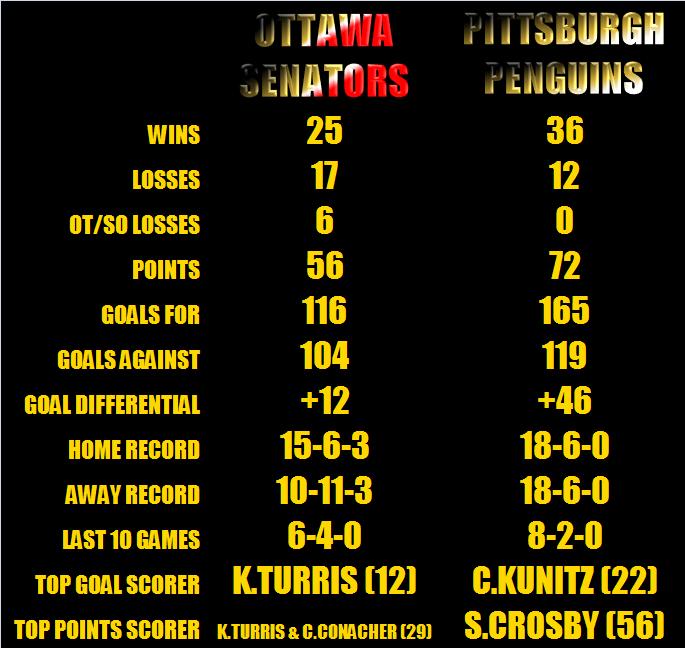 NHL PLAYOFFS SENS V PENS 2013