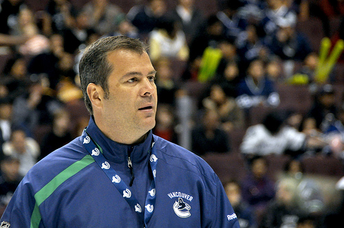 During his time with the Vancouver Canucks, Alain Vigneault was unable to translate regular season success into a Stanley Cup.  (Courtesy of canucksarmy.com)