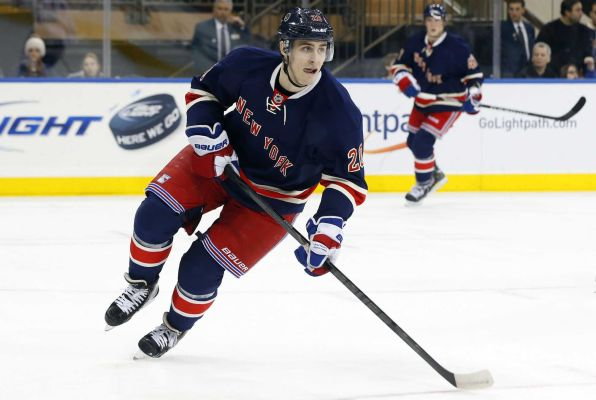 Chris Kreider was expected to have a huge impact this season, but managed only 3 points during the regular season and 2 in the playoffs.  (Courtesy of newsday.com)