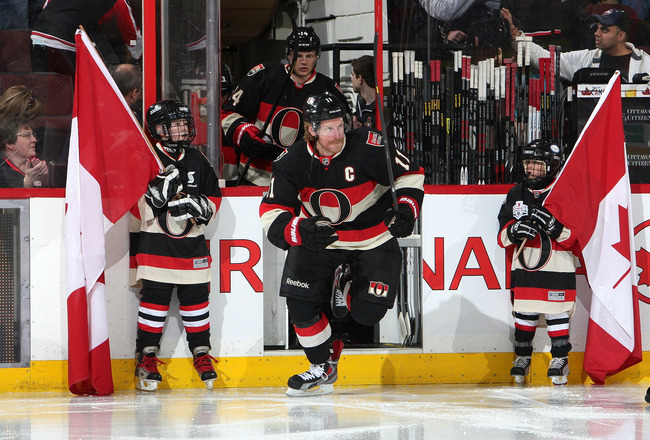 Could the inconceivable happen? After being the Ottawa Senators' captain since the dawn of time, veteran Daniel Alfredsson has reportedly spoken to the Boston Bruins this week. (Courtesy of bleacherreport.com)