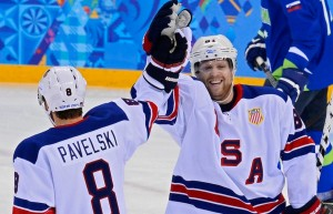 Phil Kessel scored a hat-trick against Slovenia. (Image courtesy of canada.com.)