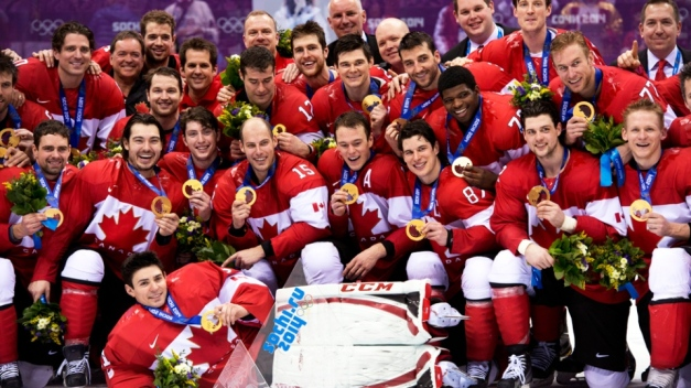 Canada celebrate with gold medals. (Image courtesy of kitchener.ctvnews.ca,)