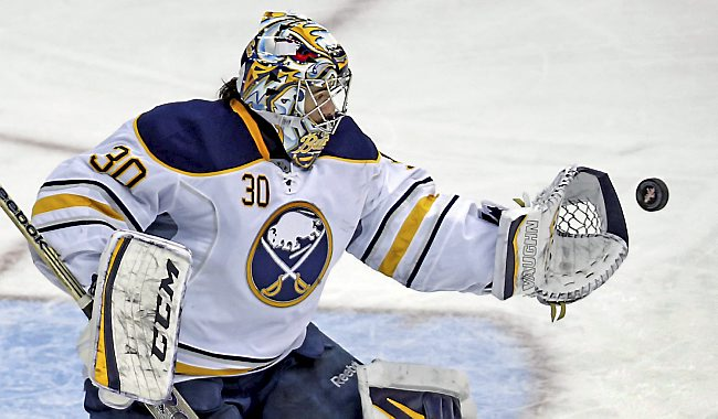 Former Sabres' goaltender Ryan Miller has enjoyed a terrific start in St Louis. (Image courtesy of twincities.com)