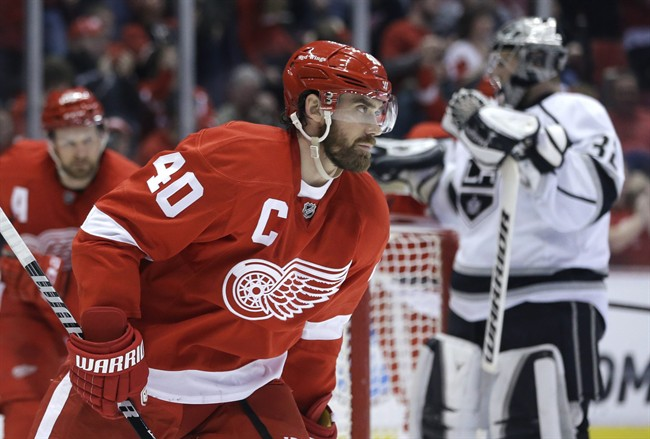 Red Wing Captain Henrik Zetterberg has missed long periods this season with injury. (Image courtesy of winnipegfreepress.com)