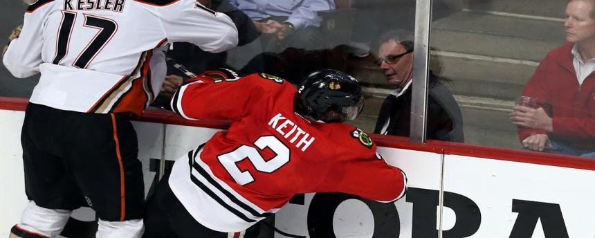 Ryan Kesler Hit Check Duncan Keith Ducks Blackhawks
