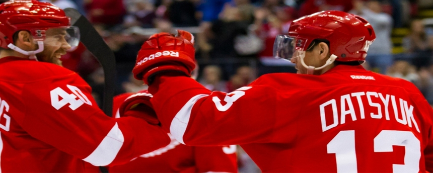 Henrik Zetterberg and Pavel Datsyuk Detroit Red Wings