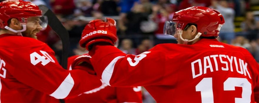 Henrik Zetterberg and Pavel Datsyuk Detroit Red Wings