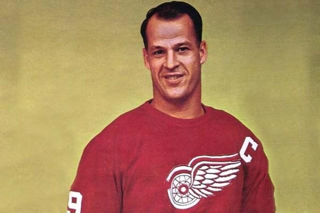 Gordie Howe Red Wings Captain